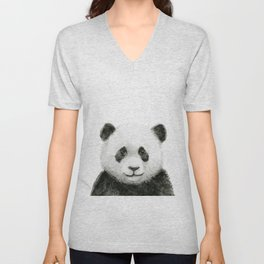 Baby Panda Watercolor Unisex V-Neck