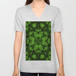 Fresh forest green kaleidoscope mandala Unisex V-Neck