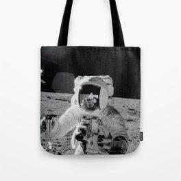 Apollo 12 - Face Of An Astronaut Moon Selfie Tote Bag