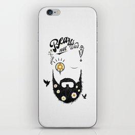 Make Beards not War (typo edition) iPhone Skin