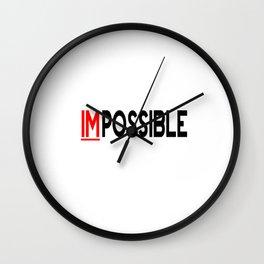 I Am Possible Wall Clock