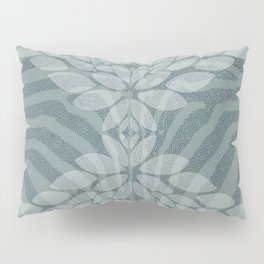 Zebra pattern with leaves Pillow Sham