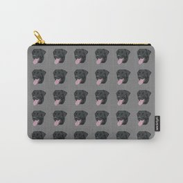 Black Lab with Its Tongue Out Carry-All Pouch