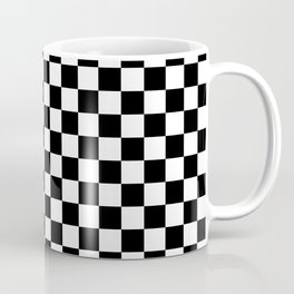 Checker (Black & White Pattern) Coffee Mug