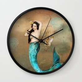 The aquatic life. Wall Clock