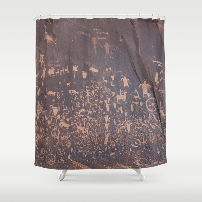 Newspaper Rock Shower Curtain