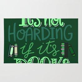 Hoarding Books - Green Rug