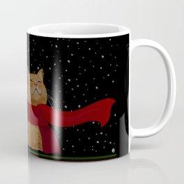 Knitted Wintercat Coffee Mug