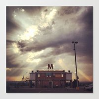 friday night lights Canvas Prints featuring Friday Night Lights by Annie Langseth