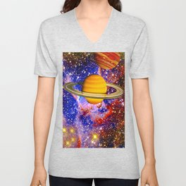 Stars and Planets Unisex V-Neck