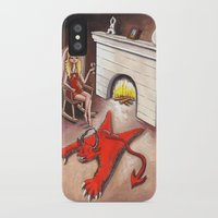 devil iPhone & iPod Cases featuring Devil by menekse cam