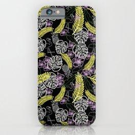 Flamencos negro iPhone Case