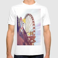 The Crab Pot and Seattle Great Wheel X-LARGE Mens Fitted Tee White