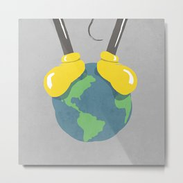 it is a small world after all (mouse version) Metal Print