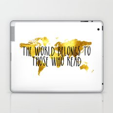 The World Belongs to those Who Read - Gold Laptop & iPad Skin