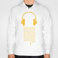 carnage Hoodies featuring Gold Headphones by Sitchko