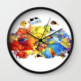 Radiant Reef Wall Clock