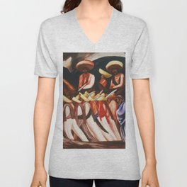 Mexican Revolution Zapatistas — Zapata's followers on the march painting by Jose Clemente Orozco Unisex V-Neck