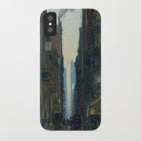 nan lawson iPhone & iPod Cases featuring New York Street Scene - Ernest Lawson by BravuraMedia