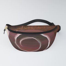 White spiral on brown Fanny Pack