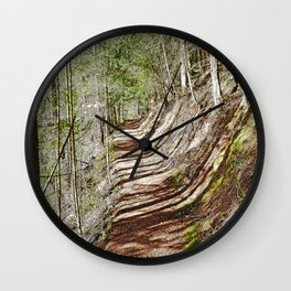 FOREST OF PARALLEL SHADOWS Wall Clock