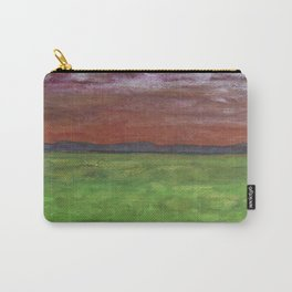 Golden Land In Silvery Shine  Carry-All Pouch