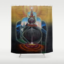 The Art of Acceleration Shower Curtain