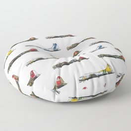 Classic B-17 Flying Fortress Continuous Pattern Floor Pillow