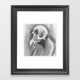 Skull with fangs Framed Art Print