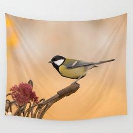 Songbird (Great Tit) on Autumn Day #decor #society6 #buyart Wall Tapestry