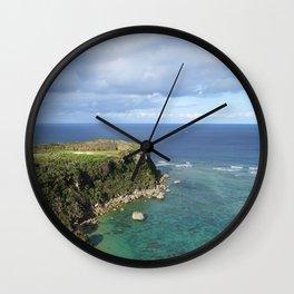 Coastal Shallows Wall Clock