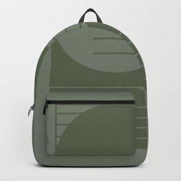 Monochromatic sun (green) Backpack