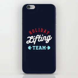 Holiday Lifting Team (Christmas Gym, Workout and Fitness) iPhone Skin