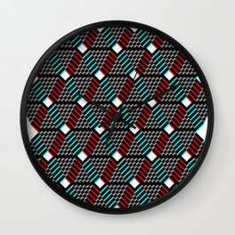 Up & Down The Patterns Wall Clock