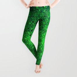 Deep green glass mosaic Leggings