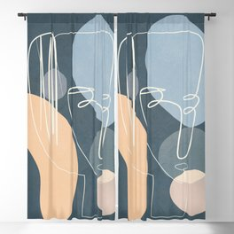 Abstract Faces 36 Blackout Curtain