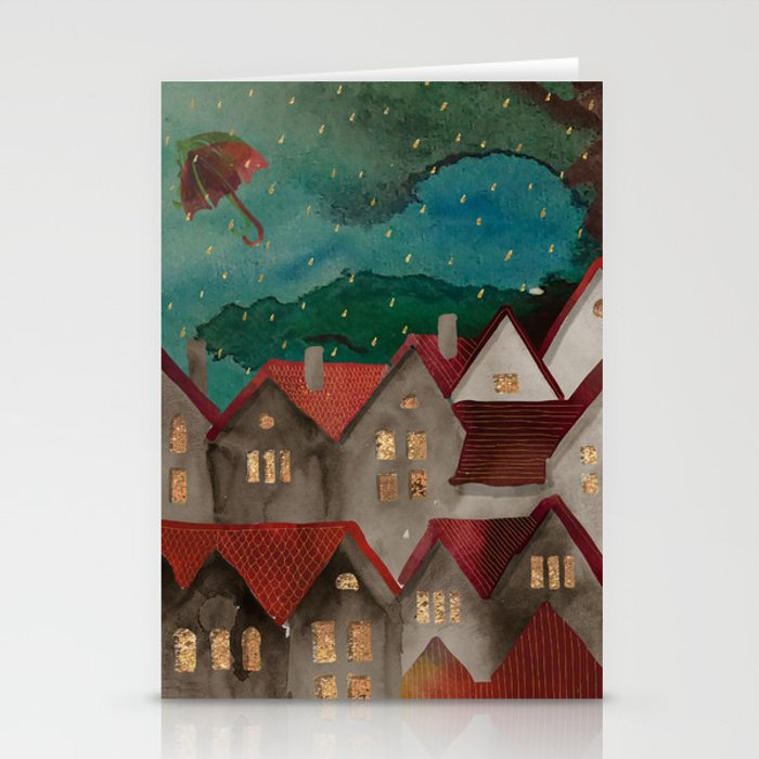 Cozy roof Stationery Cards