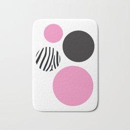 Pink zebra Bath Mat