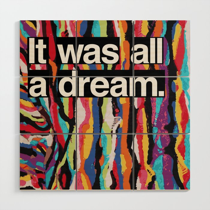 """It Was All A Dream"" Biggie Smalls Inspired Hip Hop Design Wood Wall Art"