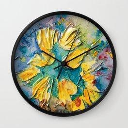 Color Vase Wall Clock