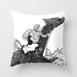 Dragonborn kids Throw Pillow