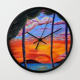 Majestic Maui Moment Wall Clock