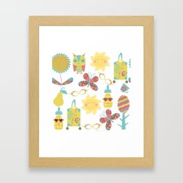 Travel pattern 2u Framed Art Print