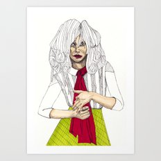 Fashion Illustration - Patterns and Prints - Part 6 Art Print