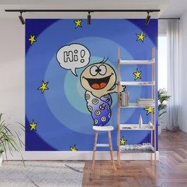 """Baby """"Hi!"""" Wall Mural"""