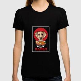 Dog Mom Love-r Funny Labrador Retriver Ramen Dog T-shirt