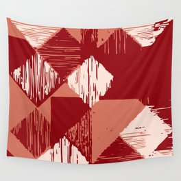 Rhomb - reds Wall Tapestry
