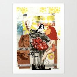 COLLAGE: Women Art Print