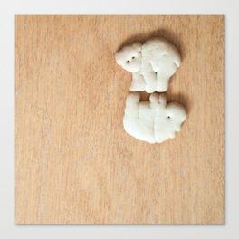 Animal Crackers - wood3 Canvas Print