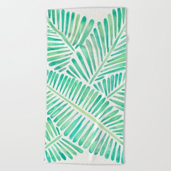 Tropical Banana Leaves – Mint Palette Beach Towel
